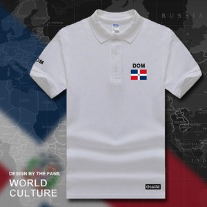 Dominican Republic Dominicana DOM polo shirts men short sleeve white brands printed for country 2017 cotton nation team Dominica