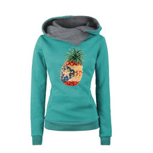 Gresanhevic 2017 Autumn Winter Pineapple Puerto Rico Print Women Fashion Tops Female Lapel Hoodie