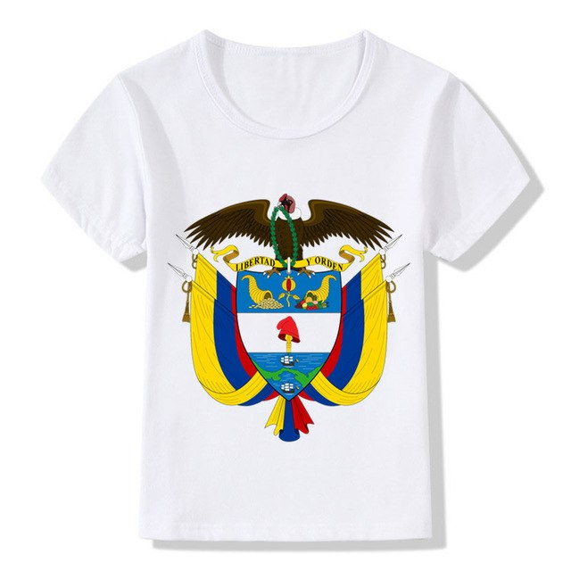 Children Colombia Colombian Print T shirt Kids Summer Tops Girls Boys Casual T shirt Baby Clothes,HKP595