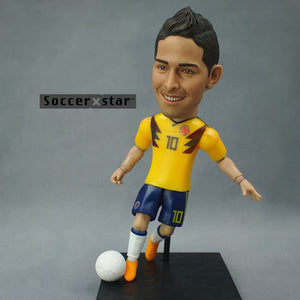 Soccerxstar Figurine Football Player Movable Dolls 10# JAMES (Colombia 2018) 12CM/5in Figure BOX include Accessories