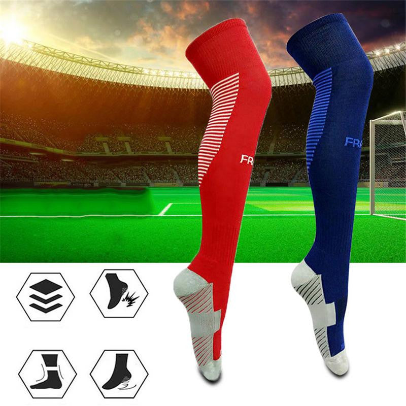 Anti-skid Football Stockings Cycling Socks Long Soccer Footwear Winter Leg Warmers Thickened Cotton Sports Socks For Adult Men & Women