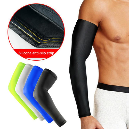 Basketball Barcer Long Style Exercise Cycling Hand Sunscreen Arm Elbow Warmers Men Women Non-slip Thin Protector Leg Protect Cuffs