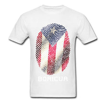 Lasting Charm Puerto Rico Gifts Sports T-shirt Men Flag T Shirt Fingerprint Tops Tees Vintage Striped Tshirts Sports T-shirt