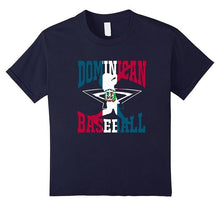 2018 New T-Shirt Dominican Republic Baseball Flag Shirt 12 Navy