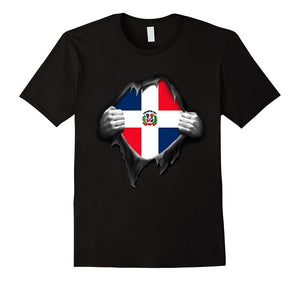 Dominican Republic Flag T-Shirt. Proud Dominican New 2018 Fashion Short-Sleeved Print Letters Shirts Homme Novelty T Shirt Men