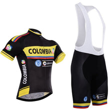 Breathable pro national team colombia cycling jerseys summer Short sleeve quick dry cloth MTB Ropa Ciclismo Bicycle maillot GEL
