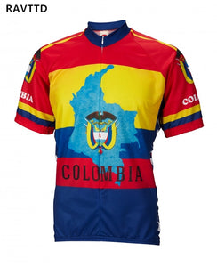 2018 Colombia Team Polyester Breathable Cycling Jersey Bike Cycling Clothing Quick-Dry Bicycle Clothes Ropa Maillot Ciclismo