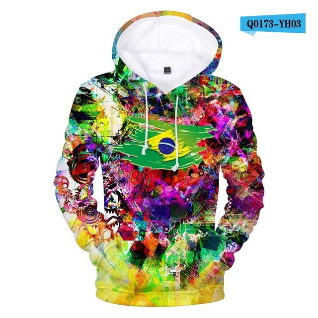 Aikooki Colombia National Flag 3d Hoodies Sweatshirt Men Women