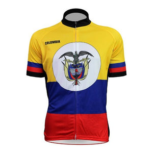 2018 Colombia Custom Cycling Jersey with short sleeves Accept Customized