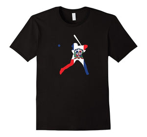 Dominican Republic Flag Baseballer Player Home Runer T Shirt Printed T-Shirt Pure Cotton Men Top Tee Sleeve Harajuku Tops