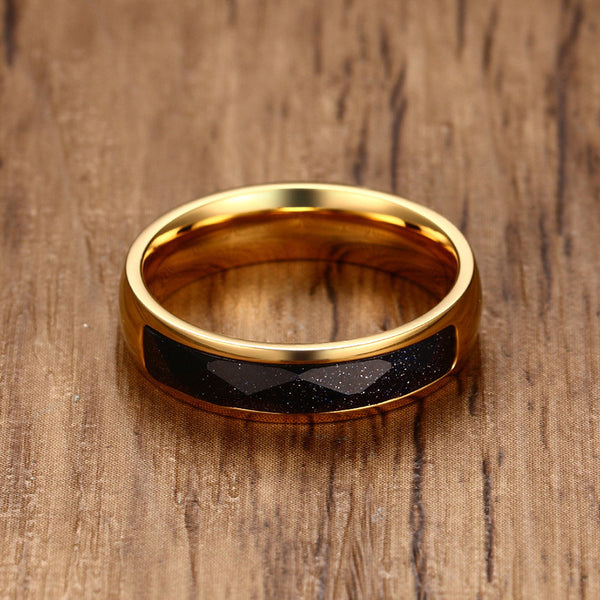 Black Diamond Speckled Ring