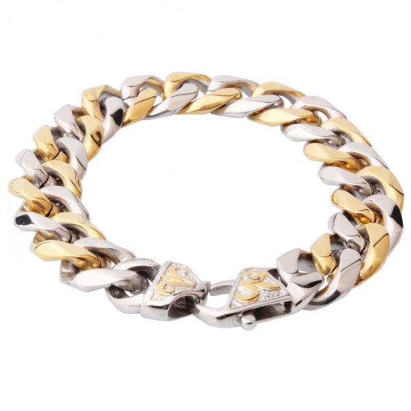 Sleek Cuban Chain Link Bracelet