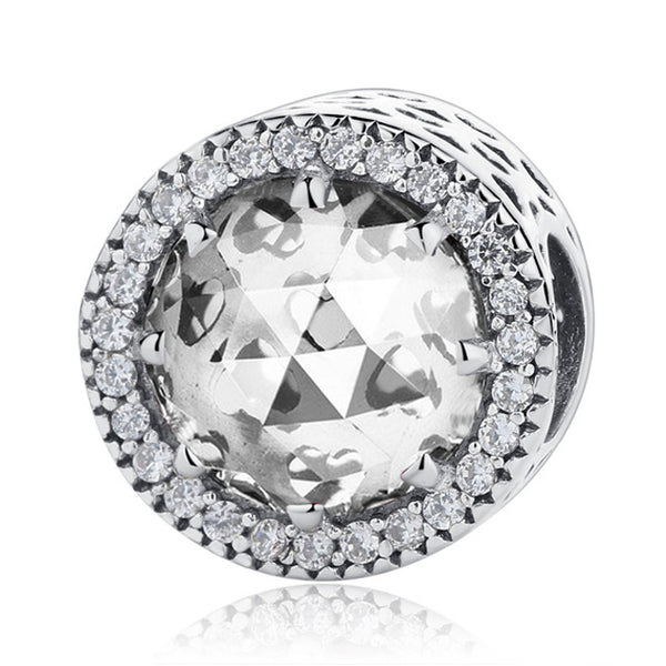 CZ Diamond Colored Crystal Charms 925 SS