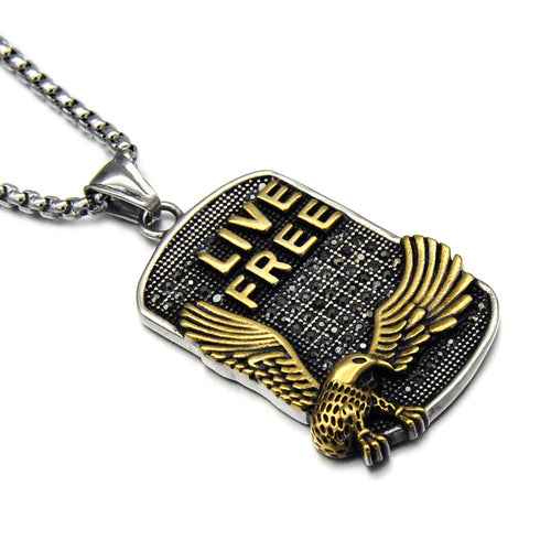 Live Free Dog Tag Necklace