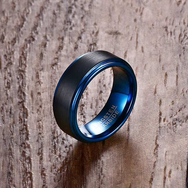 TC Black On Blue Ring