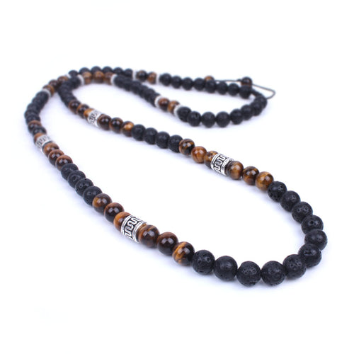 Lava Stone Beaded Necklace