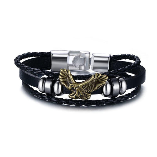 Flying Eagle Leather Bracelet