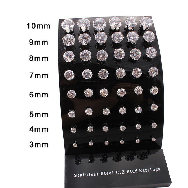CZ Diamond Earrings Selection