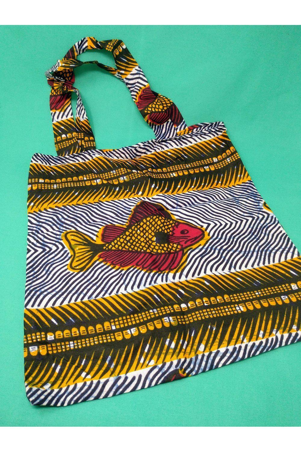 Fish Tote Bag-accessories-Ashanti Empress