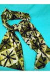 Green Batik Scarf-accessories-Ashanti Empress