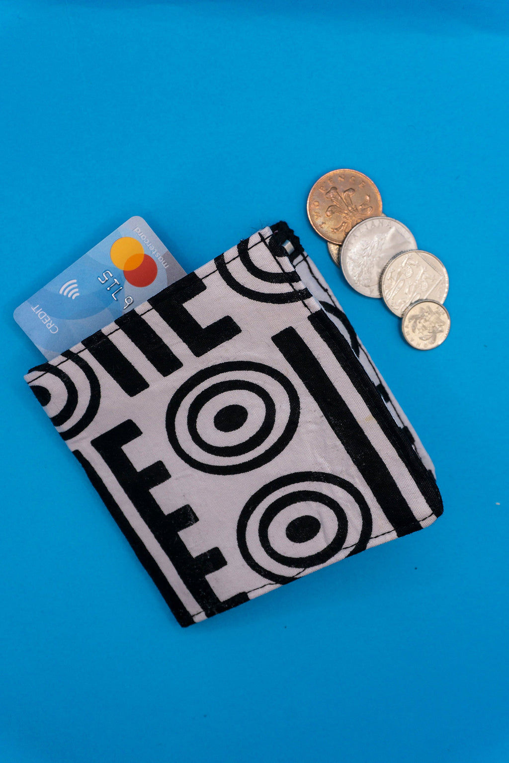 Pilolo Monochrome Wallet / Recycled wallet / African print wallet / Bill fold wallet / Gifts for him / Recycled accessories