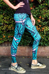 Jungle Leggings / Psychedelic Leggings /Crazy Leggings /Festival Pants /Meggings /Colourful leggings / Hippy / Patterned Leggings