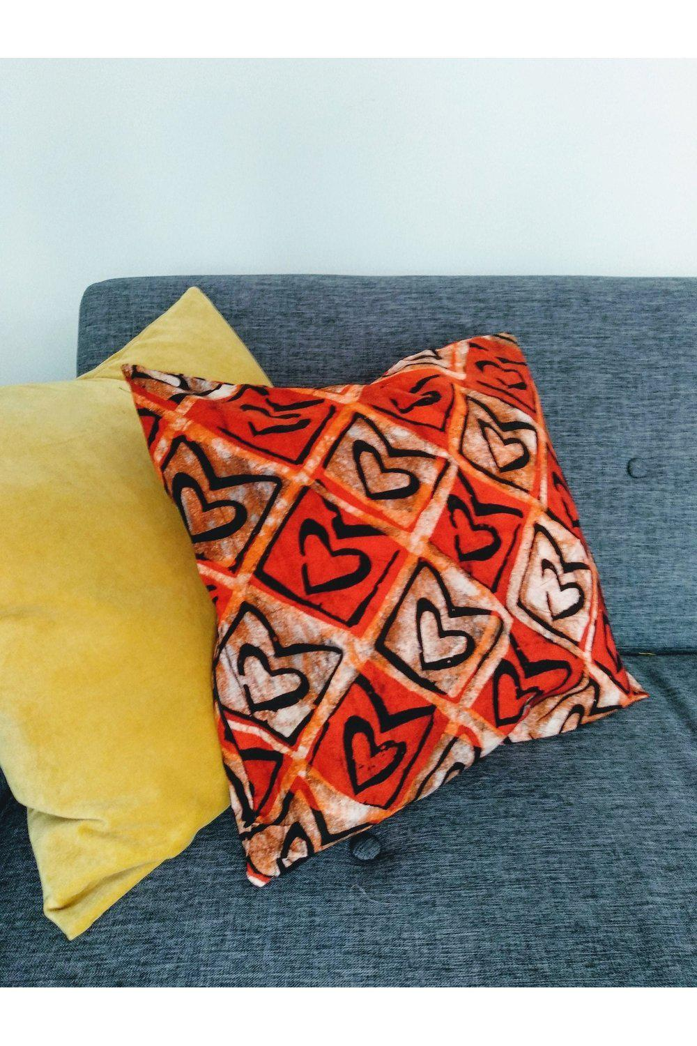 Love Heart Cushion Cover-accessories-Ashanti Empress