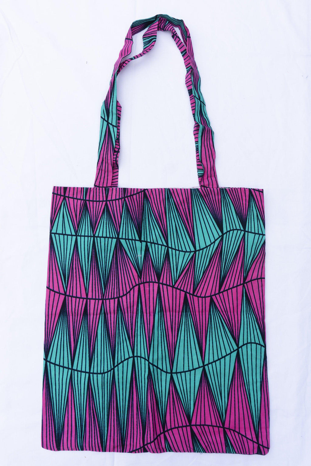 Zig Zag Tote Bag / African print tote bag / African bag / Shopping bag / Bag for life / Book bag