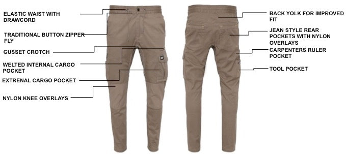 The Cat Workwear Dynamic Pant Technical Features Callout