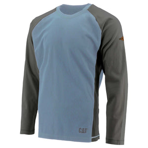 Caterpillar Men's Flame Resistant Raglan Tee - FR Light Blue