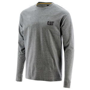 Caterpillar Men's Teflon Enforcer LS Tee Dark Heather Grey