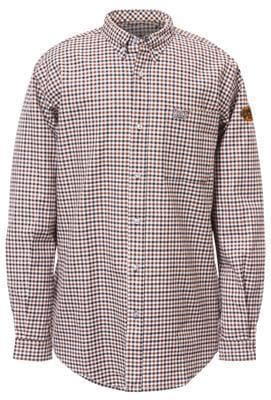 Mens Flame Resistant Plaid Work Shirt in Floyd Plaid