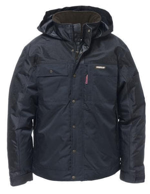 Mens Insulated Twill Jacket in Black