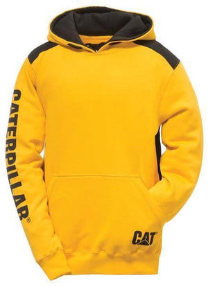Mens Logo Panel Hooded Sweatshirt in Yellow