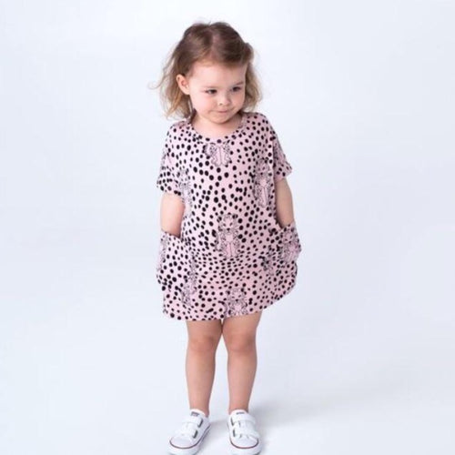 SPOTTY LEPOARD POCKET DRESS