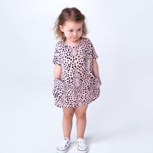 SPOTTY LEPOARD POCKET DRESS - FIVE&KNUX