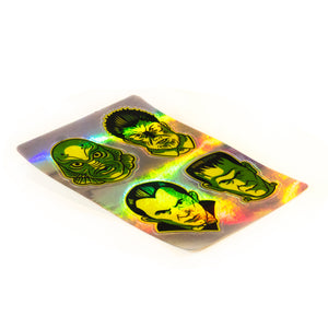 The Fab Four Holographic Horror fan Sticker Sheet