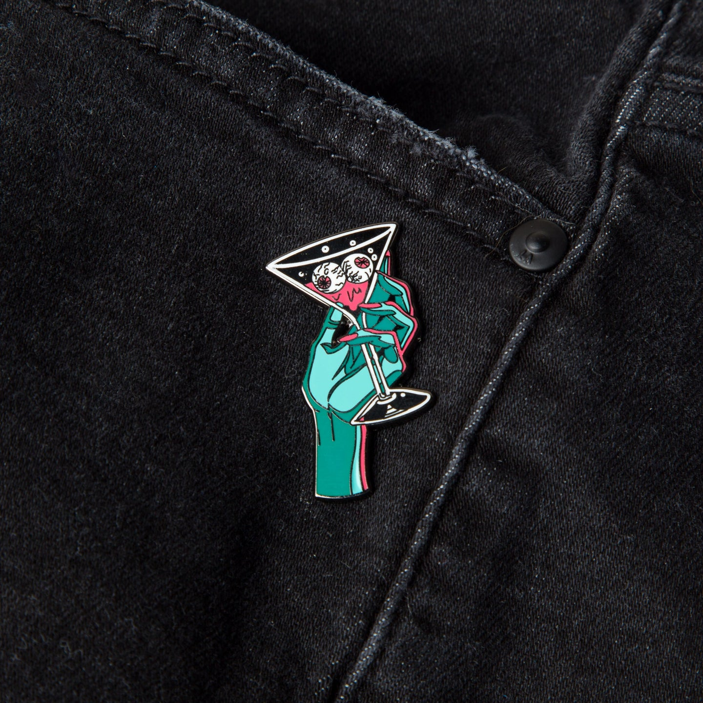 Cocktail time enamel pin