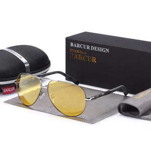 Aluminum Magnesium Night Vision Yellow Lens Sunglasses - Earthy Eye Wear