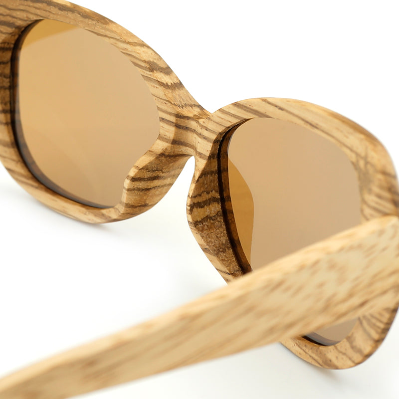 Olympus Oak Wooden Sunglasses - Earthy Eye Wear