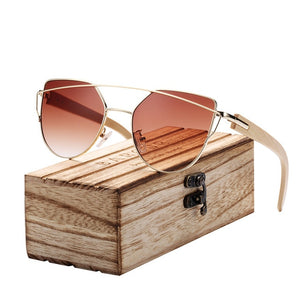 Bamboo Cat Eye Polarized Sunglasses - Earthy Eye Wear
