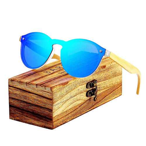 Cat Eye Wood Bamboo Sunglasses Women Fashion with original box - Earthy Eye Wear