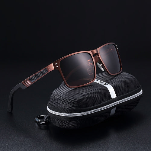 Magnesium Glass Square Men Sunglasses - Earthy Eye Wear