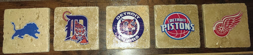 Detroit Sports Team Coasters (5-Pack)