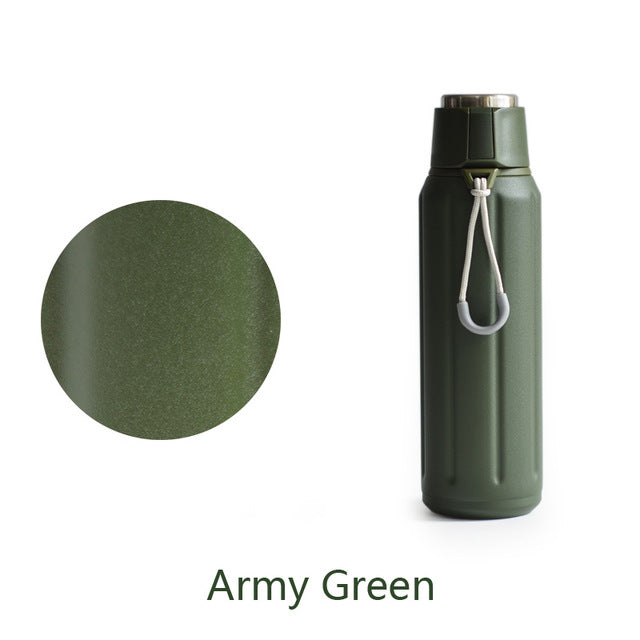 Premium Thermos Double Wall Vacuum Insulated Water Bottle Travel Mug ...