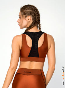 irobotic Bordo Tarçın Fitness Büstiyer Bra