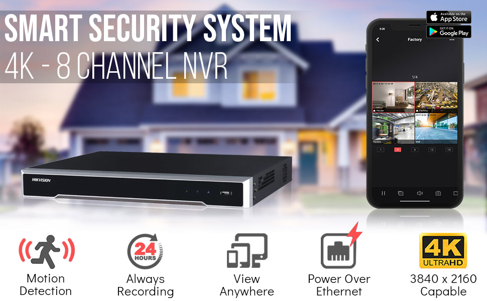 Hikvision NVR DS-7608NI-I2/8P Network Video Recorder