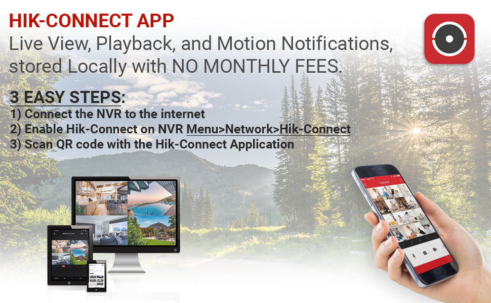 Hikvision Hik-Connect for DS-7608NI-I2/8P Remote Viewing
