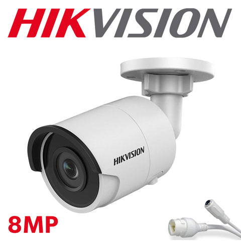 Hikvision DS-2CD2083G0-I 8.0MP 4K UltraHD Exir Bullet Camera IR, 4.0mm, IP67 Weatherproof
