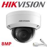 Hikvision DS-2CD2183G0-I 8.0MP 4K UltraHD Exir Dome Camera, IR, IP67 Weatherproof